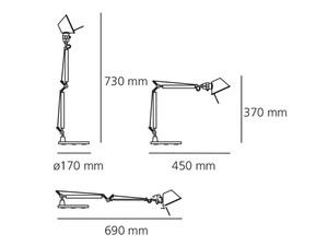 Lampa biurkowa Artemide Tolomeo Micro A011860 small 1
