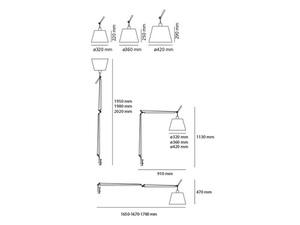 Lampa zaciskowa biurkowa Artemide TOLOMEO Mega 0564010A ø32cm small 2