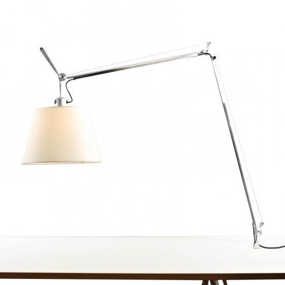 Lampa zaciskowa biurkowa Artemide TOLOMEO Mega (klosz pergaminowy ø32cm)