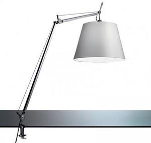 Lampa zaciskowa biurkowa Artemide TOLOMEO Mega (klosz satynowy ø32cm)