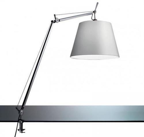 Lampa biurkowa zaciskowa Led Artemide TOLOMEO (klosz satynowy ø32cm)