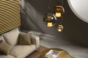 Lampa wisząca Fabbian Beluga Royal D57 7W 20cm - Brąz - D57 A51 41 small 3