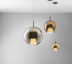 Lampa wisząca Fabbian Beluga Royal D57 7W 20cm - Brąz - D57 A51 41 small 4