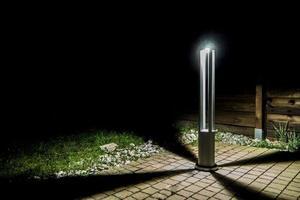Szary metalowy słupek oświetleniowy LED Windmill Post 80cm 10W 4000K small 8