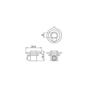 Złączka plastikowa ze śrubą blokującą do adapterów 9009, szynoprzewody STUCCHI small 1