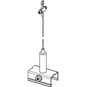 Zestaw do zawieszania BASIC z uchwytem, dł. 5000 mm, STUCCHI small 1