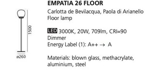 Lampa podłogowa Artemide EMPATIA 26  small 1
