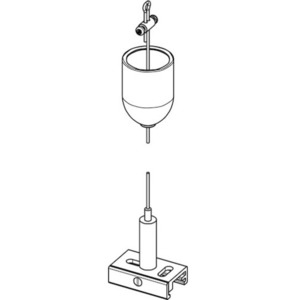 Zestaw do zawieszania BASIC z uchwytem, dł. 5000 mm, STUCCHI, biały, czarny, szary small 1