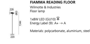 Lampa podłogowa do czytania Artemide FIAMMA czarna small 1