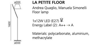 Lampa podłogowa Artemide LA PETITE biała small 1