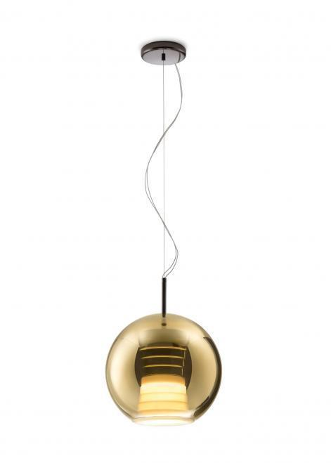 Lampa wisząca Fabbian Beluga Royal D57 17W 30cm - Złoty - D57 A53 12