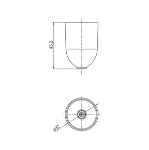 Osłona mocowania do linki o śr. 1,5 mm, STUCCH, biały, czarny, szary small 1
