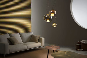 Lampa wisząca Fabbian Beluga Royal D57 17W 40cm - Brąz - D57 A55 41 small 2