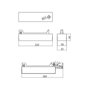 Obudowa zasilacza do asymetrycznego adaptera 9209, LED, szynoprzewody STUCCHI, biały, czarny small 1