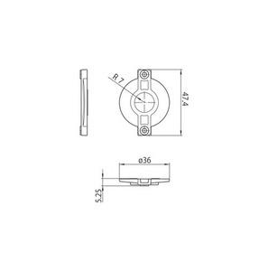 Osłona blokady S-9209-BD-xx, szynoprzewody STUCCHI, poliwęglan, biały, czarny small 1