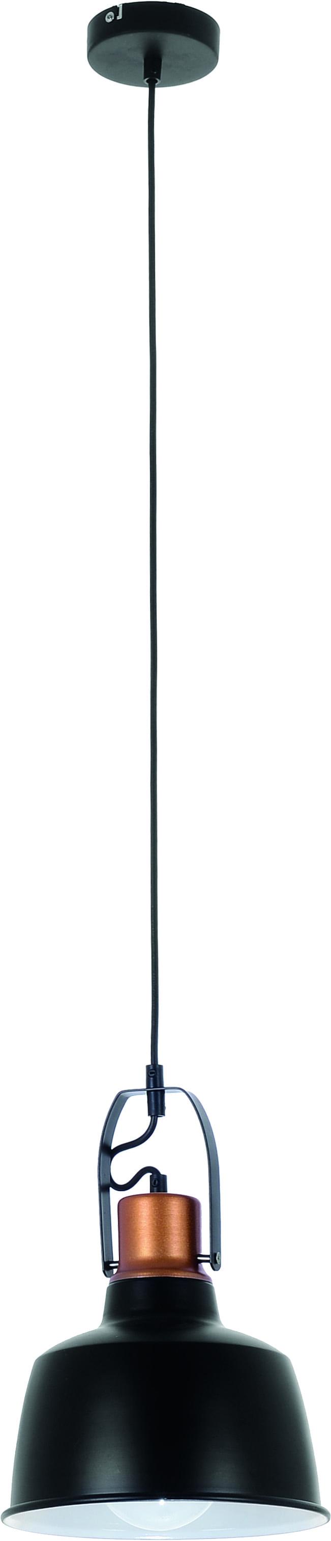 Lampa sufitowa Herman w kolorze czarnym