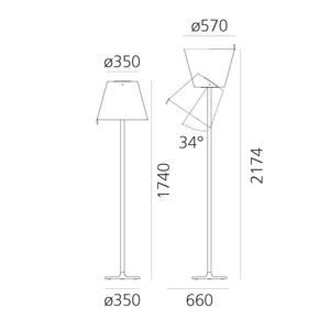 Lampa podłogowa Artemide Melampo Mega Floor 0577020A small 1