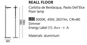 Lampa podłogowa Artemide REALL Led small 1