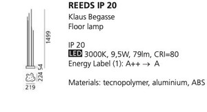 Lampa podłogowa Artemide REEDS IP20 small 1