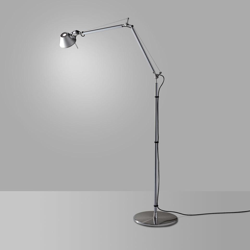 Lampa podłogowa Artemide Tolomeo Aluminium A001000