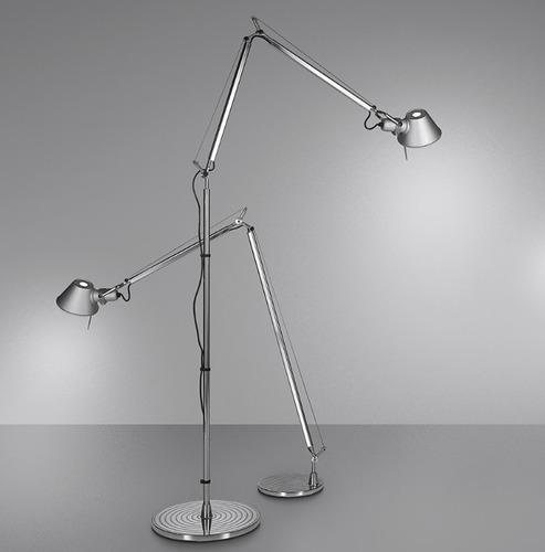 Lampa podłogowa Artemide Tolomeo Aluminium