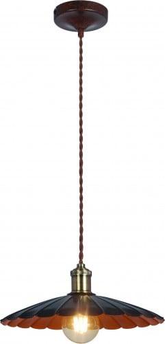 Lampa wisząca Herbert w Kolorze Czerni i Rdzy 35cm