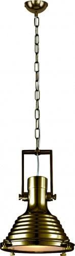 Loftowa Lampa wisząca Expiria na łańcuszku patyna