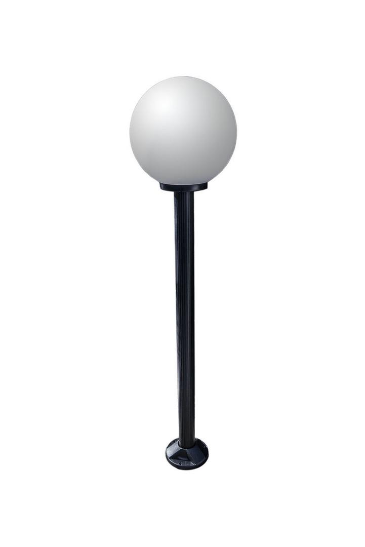 Lampa ogrodowa stojąca Moon lamp biała 25 cm E27 czarny słupek 100 cm