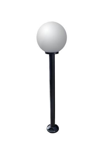 Lampa ogrodowa stojąca Moon lamp biała 30 cm E27 czarny słupek 100 cm