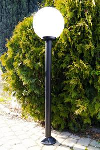 Lampa ogrodowa stojąca Moon lamp biała 40 cm E27 czarny słupek 100 cm small 1