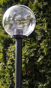 Lampa ogrodowa stojąca Moon lamp transparentna 25 cm E27 czarny słupek 100 cm small 1
