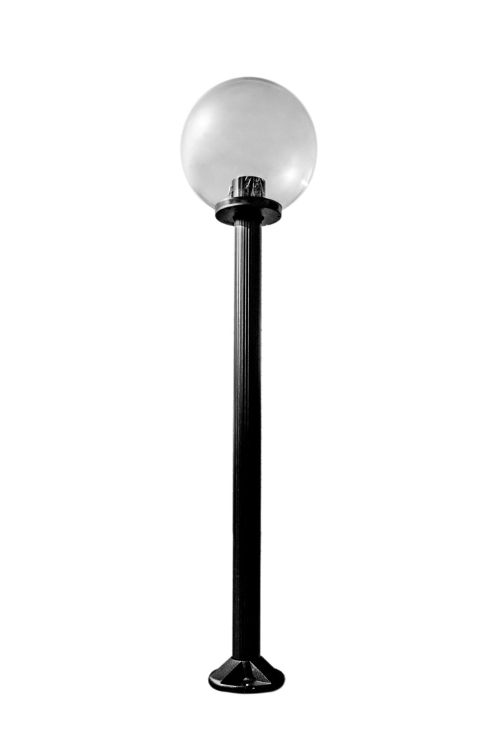 Lampa ogrodowa stojąca Moon lamp transparentna 20 cm E27 czarny słupek 100 cm