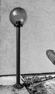 Lampa ogrodowa stojąca Moon lamp przydymiona 20 cm E27 czarny słupek 100 cm small 4