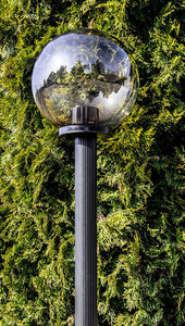 Lampa ogrodowa stojąca Moon lamp przydymiona 25 cm E27 czarny słupek 100 cm small 1