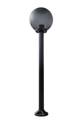 Lampa ogrodowa stojąca Moon lamp przydymiona 30 cm E27 czarny słupek 100 cm