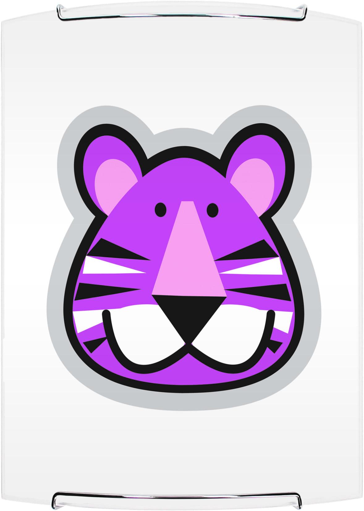 Lampa dla dziecka Tygrys - kinkiet Lenny biały/ chrom 60W E27