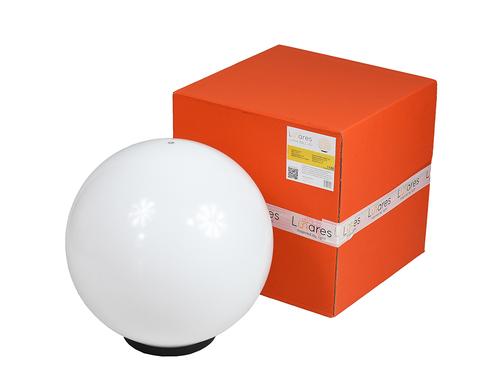 Kula Dekoracyjna Biała Połysk - Luna Ball 40 cm wraz z zestawem montażowym, kabel 3m, słupek mocujący