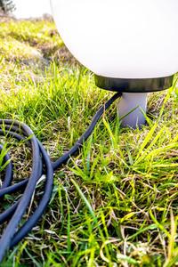 Kula Dekoracyjna Biała Połysk - Luna Ball 50 cm wraz z zestawem montażowym, kabel 3m, słupek mocujący small 1