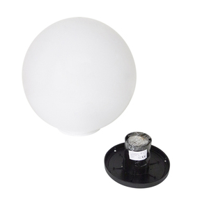 Kula Dekoracyjna Biała Połysk - Luna Ball 50 cm wraz z zestawem montażowym, kabel 3m, słupek mocujący small 5