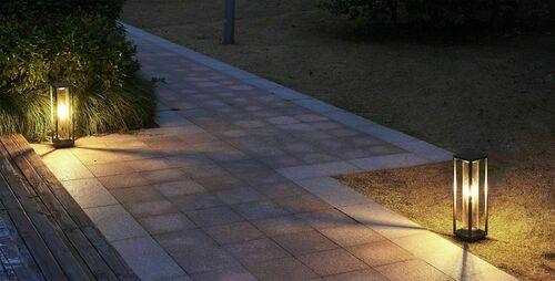 Porto lampa stojąca ogrodowa 50cm + żarówka filament LED