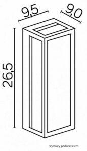 Porto kinkiet na elewację zewnętrzną + żarówka filament LED small 2