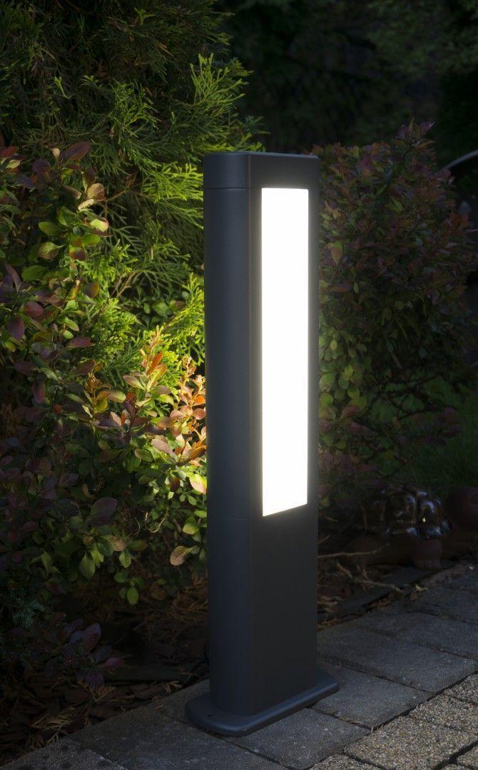 Lampa stojąca zewnętrzna EVO LED 50cm,ciemny popiel