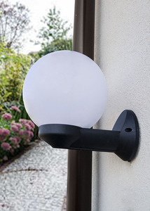 Kinkiet ogrodowy Luna Ball 20 cm biały E27 LED small 1
