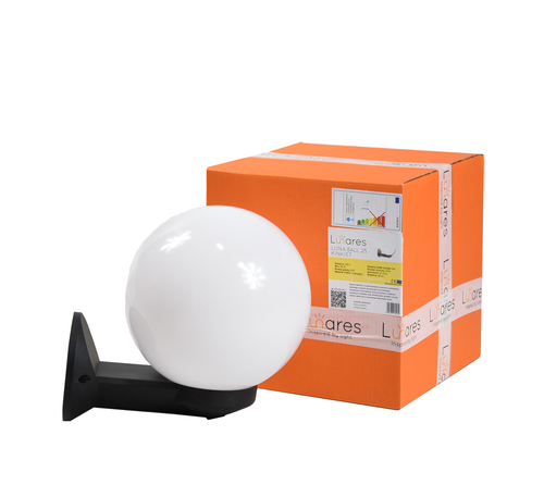 Kinkiet ogrodowy luna ball 15 cm e27 bialy l