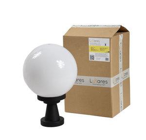 Lampa ogrodowa stojąca Luna Ball Plinto 25 cm E27 LED biała cokół 1