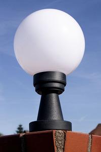 Lampa ogrodowa stojąca Luna Ball Plinto 20 cm E27 LED biała cokół small 1