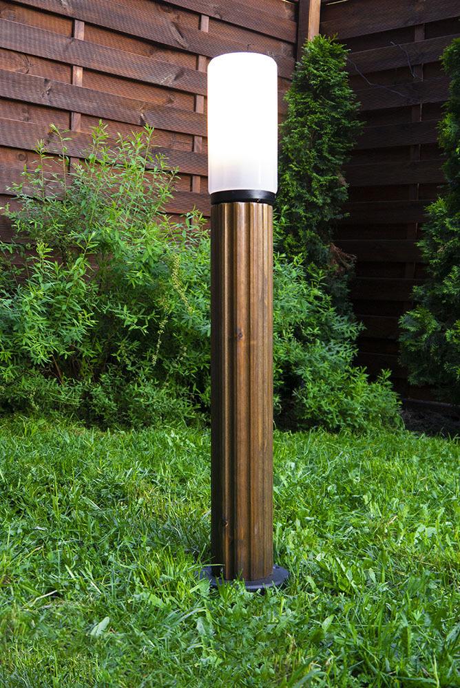 Słupek oświetleniowy Luna Torch 85 cm E27 drewniany
