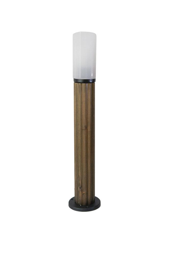Słupek oświetleniowy Luna Torch 85 cm E27 drewniany biały klosz
