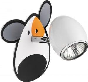 Lampa dla dziecka Piesek - kinkiet Doggy biały/ chrom 50W GU10