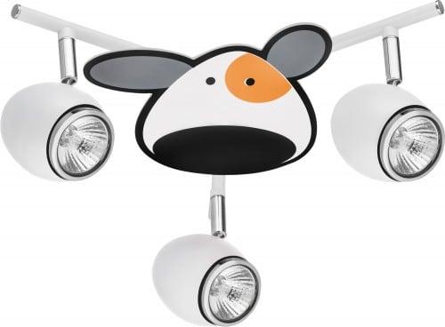 Lampa dla dziecka Piesek - Doggy biały/ chrom 3x50W GU10